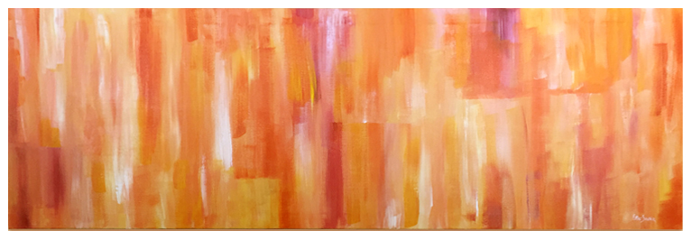 Exuberance, Original acrylic abstract painting by artist Eric Soller