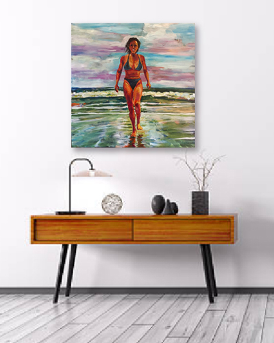 Afternoon Swim - Original acrylic painting by Eric Soller