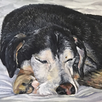 Bailey And Breeze - Original oil painting by Eric Soller