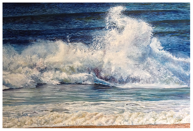 The Wave, Original oil painting by the fine artist Eric Soller