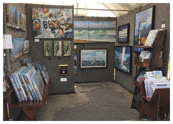 Booth Shot - Original oil painting by Eric Soller