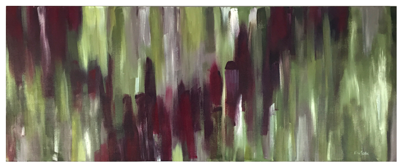 Cabernet & Olives, Original acrylic abstract painting by artist Eric Soller
