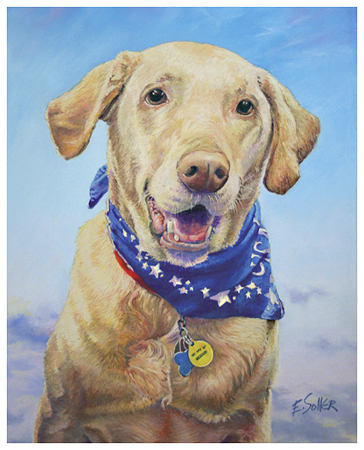 Callie, Original pastel painting by the fine artist Eric Soller