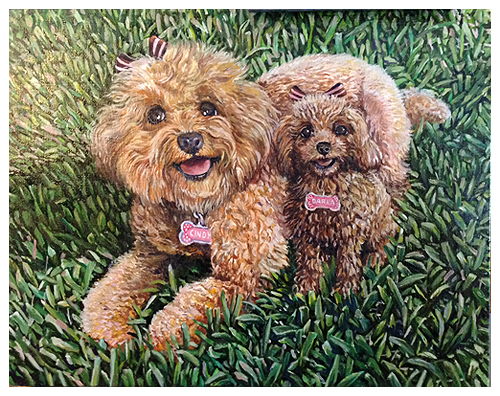 Cindy & Darla, Original oil painting by artist Eric Soller