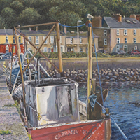 Howth Harbour - Original oil painting by Eric Soller