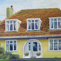 Howth Home - Original pastel painting by Eric Soller