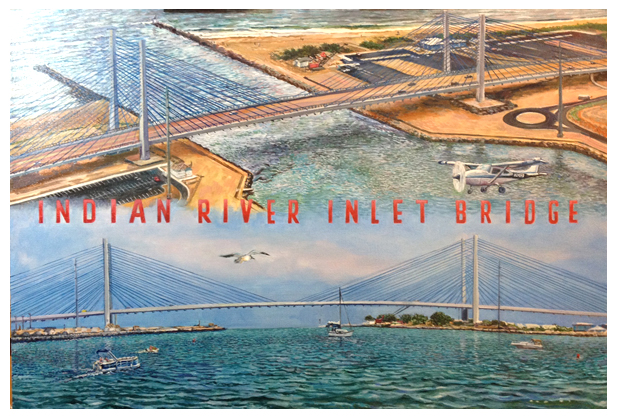 Indian River Inlet Bridge, Original oil painting by artist Eric Soller