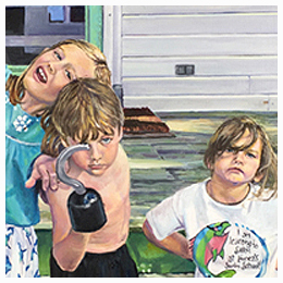 Brady Kids - Original oil painting by Eric Soller