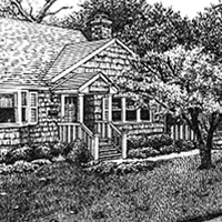 Joan's Pen and ink - Original Pen and Ink rendering by Eric Soller