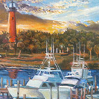 Jupiter Inlet - Original oil painting by Eric Soller