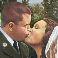 Wedding Kiss - Original oil painting by Eric Soller