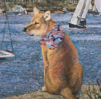 Sailing with Gracie - Original oil painting by Eric Soller