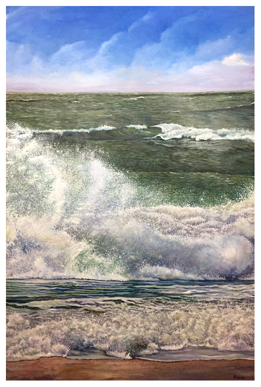 Summer Surf, Original oil painting by Eric Soller