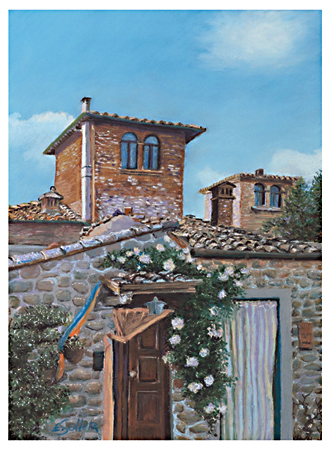 Tuscany, Original pastel painting by the fine artist Eric Soller