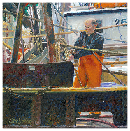 Tying Up, Original oil painting by fine artist Eric Soller